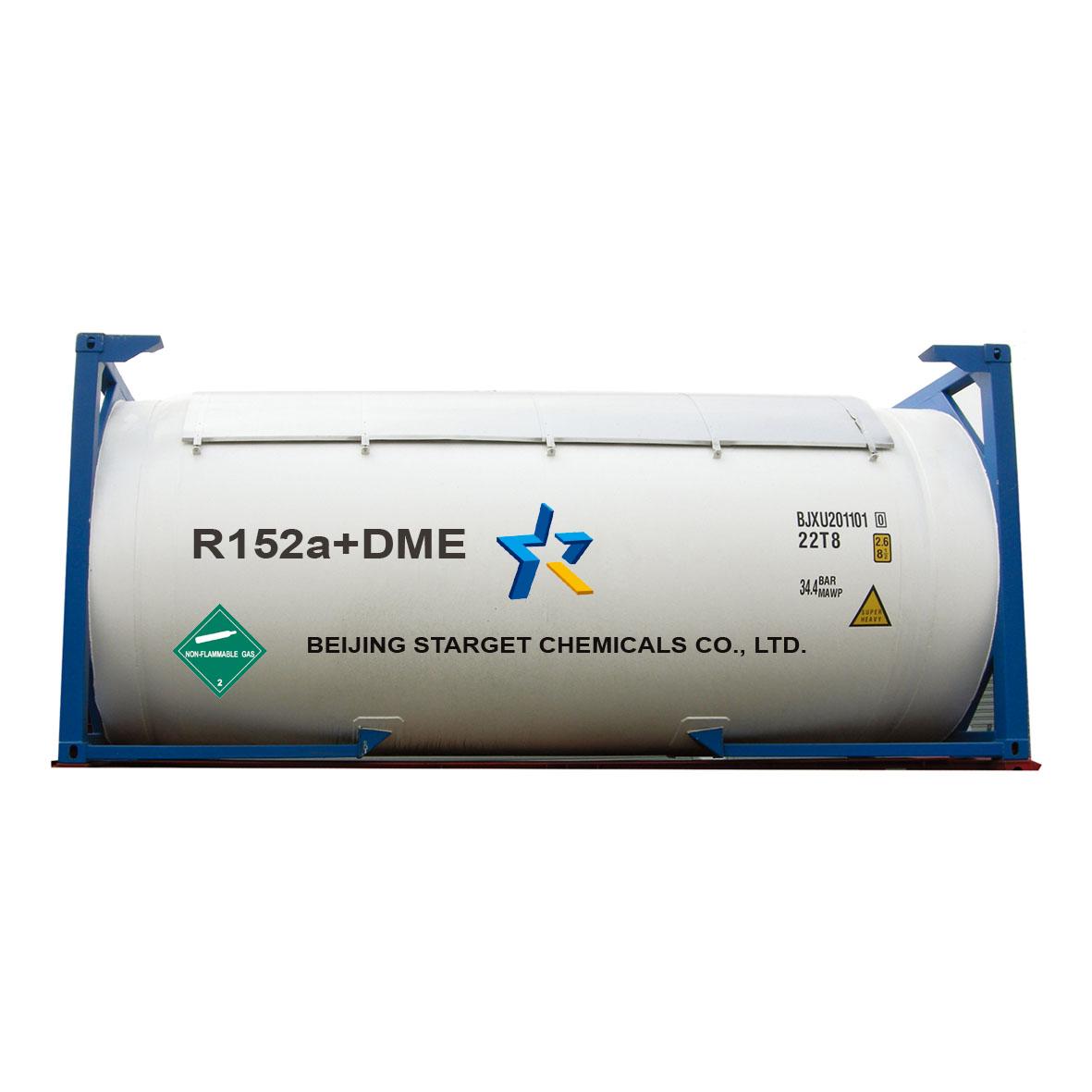Expanding foam R152a+DME